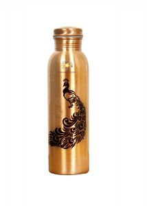Shanaya Creations Digital Multicolored Prints Copper Water Bottle - 1000ml