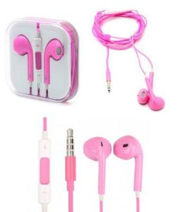 Apple iPhone Handsfree With Remote And Mic (pink)