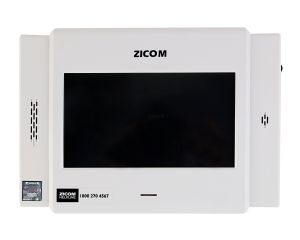 Home Security Systems - Zicom White touchscreen VDP for Home and Office with GSM