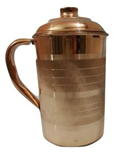 Handmade Pure Copper 1000 Ml Pitcher Jug