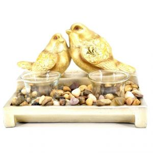 Two Sparows Candle Light Holder Polyresin Home Decoration Show Piece