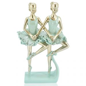 Two Ballet Girls Polyresin Home Decoration Show Piece