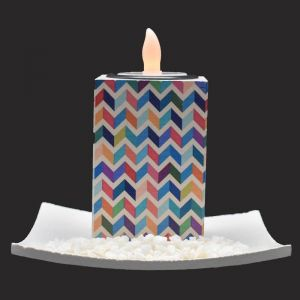 LED Ceramic Candle Holder For Home Dcor