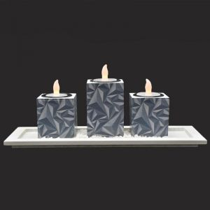 Candle Holders - Set Of 3 LED Ceramic Candle Holder for Home Dcor