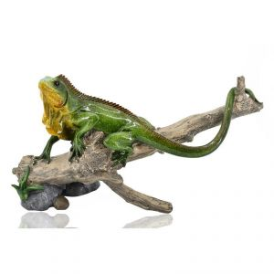 Antique Polyresin Lizard Home Decoration Show Piece - Green