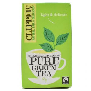 Clipper Pure Green Tea Bags, 40pk - 80g