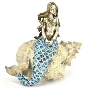 Mermaid Sitting On Shell Home Decoration Show PC