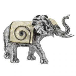 Elegant N Stylish Silver Elephant With Mother Of Pearl Decoration