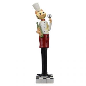 Fancy Chef Cat Polyresin Home Decoration Show Piece