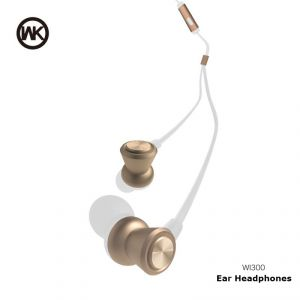 Wk In-ear Wired Metal Stereo Headphones Wi300 - White/gold