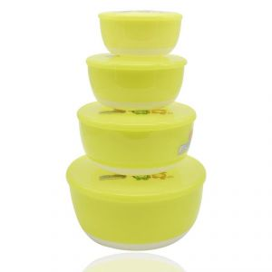 Fruits Salad Bowl Set Of 4 - Green