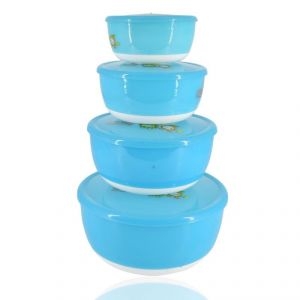Fruits Salad Bowl Set Of 4 - Blue