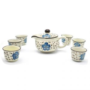 Chinese Tea Set (1 Kettle & 6 Cups)