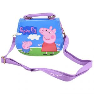 Peppa Pig Handbags Cute Sling Bag Purse For Kids Girls Gift 2-5y - Purple
