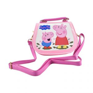 Peppa Pig Handbags Cute Sling Bag Wallet Purse For Kids Girls Gift 2-5y - Pink