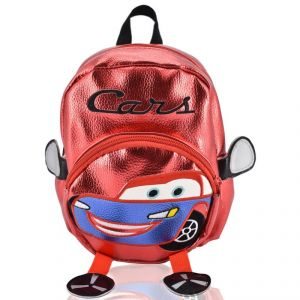 Mini Backpack Cars School Bag For Kids - Red