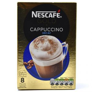Nescafe Gold Cappuccino Decaf, 8 Mugs - 120g (8x15g)
