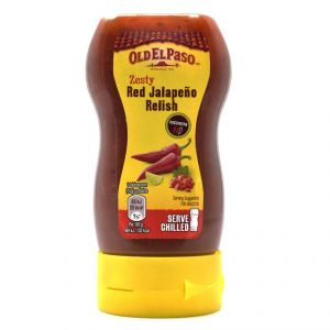 Old Elpaso Zesty Red Jalapeno Relish, Medium - 255g