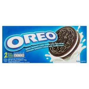 Oreo Chocolate Sandwich Cookies With Vanila Flavored Cream, 2 Stay Fresh Packs - 274g (2x137g)