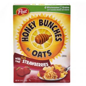 Post Honey Bunches Of Oats With Real Tasty Strawberries Cereal - 411g(14.5oz)