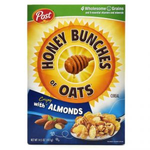 Post Honey Bunches Of Oats With Crispy Almonds Cereal - 411g(14.5oz)