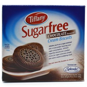 Tiffany Sugarfree Chocolate Flavoured Cream Biscuits - 162g