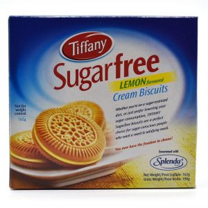Tiffany Sugarfree Lemon Flavoured Cream Biscuits - 162g