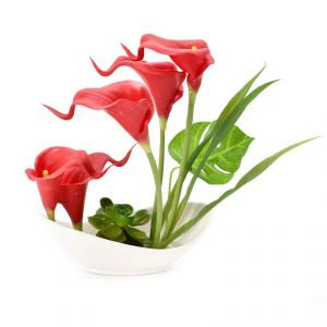 Artificial Potted Plants For Home Dcor - Red