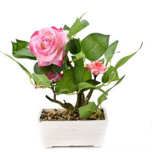 Artificial Potted Plants For Home Dcor - White/pink