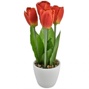 Artificial Potted Plants For Home Dcor - Orange Flowers