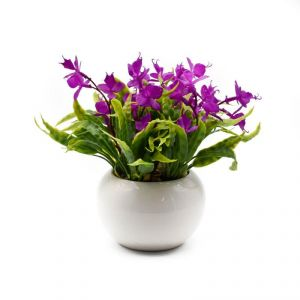 Artificial Potted Plants For Home Dcor- Purple