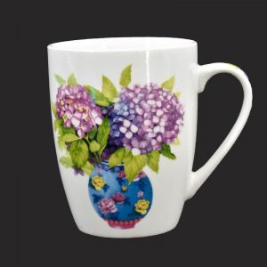 Ceramic Coffee Mug - Potted Flower Print