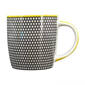 Printed Ceramic Coffee Mug - Black