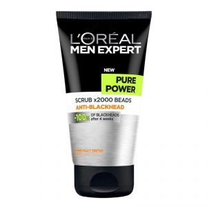 Loreal Paris Men Expert Pure Power Scrub X2000 Beads Anti-blackhead Face Wash - 150ml
