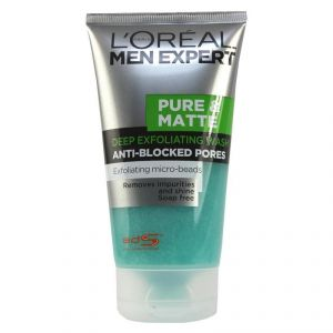 Loreal Paris Men Expert Pure Matt Deep Exfoliating Anti-blocked Pored Exfoliating Formula Face Wash - 150ml
