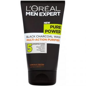 Loreal Paris Men Expert Pure Power Black Charcoal Wash, Multi-action Purifier - 150ml