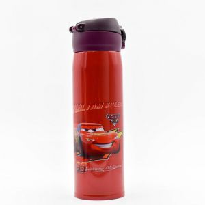 Stainless Steel Vacuum Flask Kids Sports Bottle, Red, 500ml - Cars Speed (assorted Print)