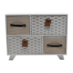 Mini Cabinet With Multi 4 Drawer For Storage -white/cream
