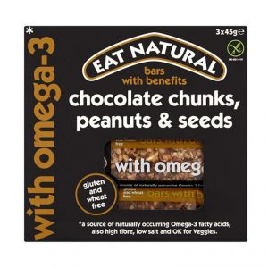 Eat Natural Gluten Free Fruit & Nut Seed Bars With Omega-3 - 135g (3x45g)