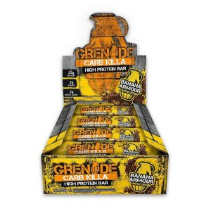 Grenade Carb Killa High Protein Bar, Banana Armour Limited Edition - 720g (12 X 60g)