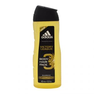 Adidas Victory League Body, Hair & Face Shower Gel, Guarana Stimulating - 400ml (13.5oz)