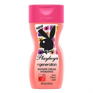 Playboy Generation Shower Cream For Women, Juicy Cherry Scent - 250ml(8.44oz)
