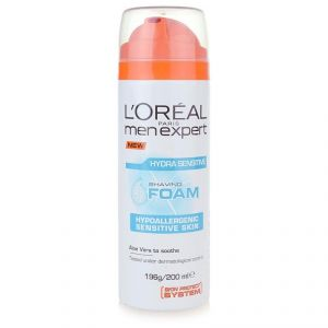 Loreal Paris Men Expert Shaving Foam, Hydra Sensitive - 196g/200ml