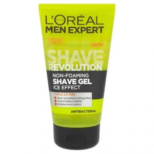 Loreal Paris Men Expert Non Foaming Shave Gel, Antibacterial - 150ml