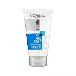 Loreal Paris Studio Line 6 Fix & Style Multi Vitamin Gel, Very Strong Hold - 150ml