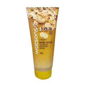 Watsons Cream Body Scrub With Oatmeal And Cocoa Butter Scented - 200g