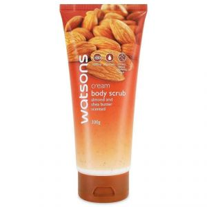 Watsons Cream Body Scrub With Almond And Shea Butter Scented - 200g