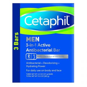 Cetaphil Men Daily Clean 3 Bar For Body+face, Dry Skin Or Sensitive Skin - 382g (13.5oz)