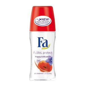 Fa Floral Protect Poppy & Bluebell Anti-perspirant - 50ml