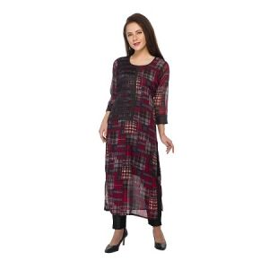Present Women Multicolor Cotton Kurti ( Code-pc-3195)
